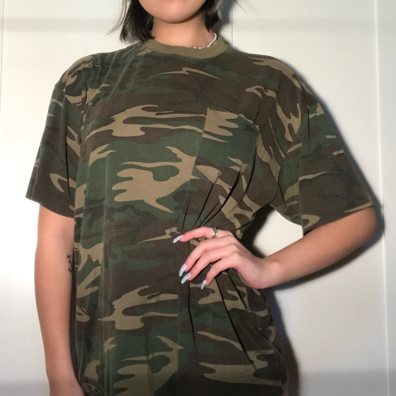 🌎CLASSIC🌏deadstock vintage camo tee! so soft and comfy bbd6b47c0ab