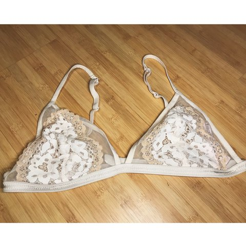 ab41ad5605a208 Floral lace bralette. Only worn and washed once. Excellent - Depop