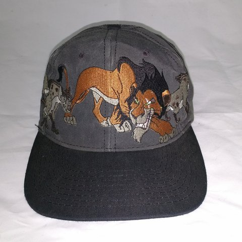 Vintage 1990s Lion King Scar snapback hat. Made in USA f8e7c5ee63e