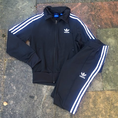31389c79 @paigeycakey. 3 years ago. London, UK. WOMENS ADIDAS ORIGINALS 3 STRIPE  BLACK TRACKSUIT BOTTOMS ...