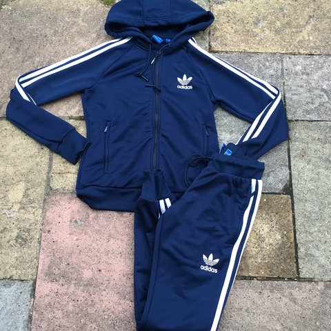 9113ad97 @paigeycakey. 3 years ago. London, UK. WOMENS ADIDAS ORIGINALS 3 STRIPE  NACY BLUE TRACKSUIT BOTTOMS ...