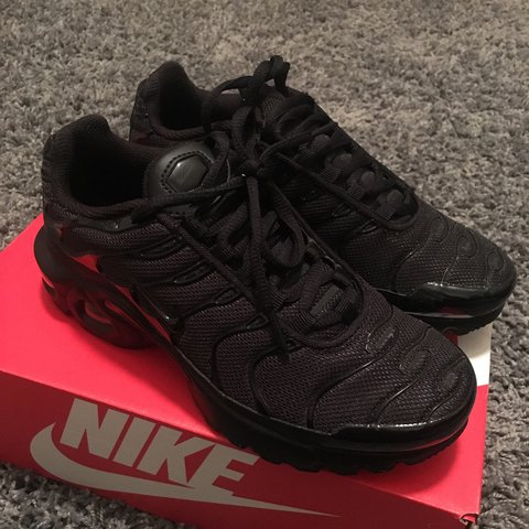 541b70da01 @paigeycakey. 2 years ago. London, United Kingdom. NIKE AIR MAX PLUS TN'S TN  TUNED TRIPLE BLACK TRAINERS SIZE ...
