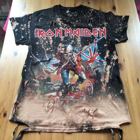 0b254db4713a @paigeycakey. 2 years ago. London, UK. BRAND NEW BLEACHED DISTRESSED RIPPED  IRON MAIDEN TROOPER T-SHIRT TOP SIZE ...