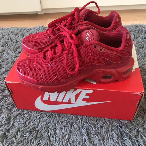 NIKE AIR TN TUNED TRIPLE RED TRAINERS