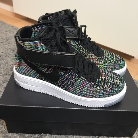 485bb13608a54 NEW NIKE AIR FORCE 1 FLYKNIT MULTI COLOUR MID TRAINERS SIZE - Depop