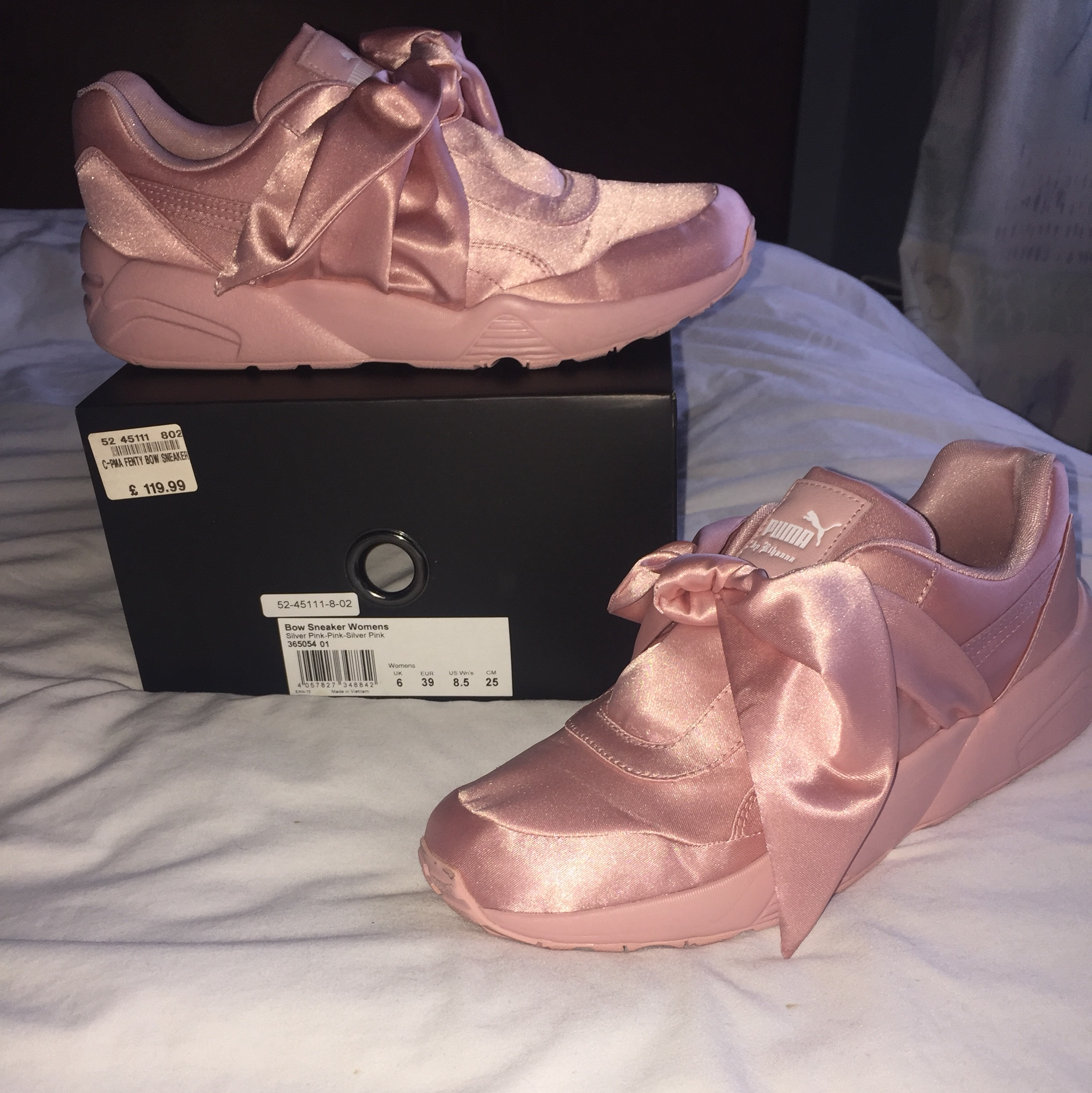 PUMA RIHANNA PINK BOW SNEAKER TRAINER FENTY ALL SIZES UK 3 4 5 NEW