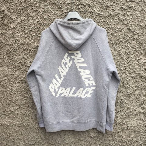 3a2a8601e1aa palace p3 grey hoodie size extra large xl    7 10 condition - Depop
