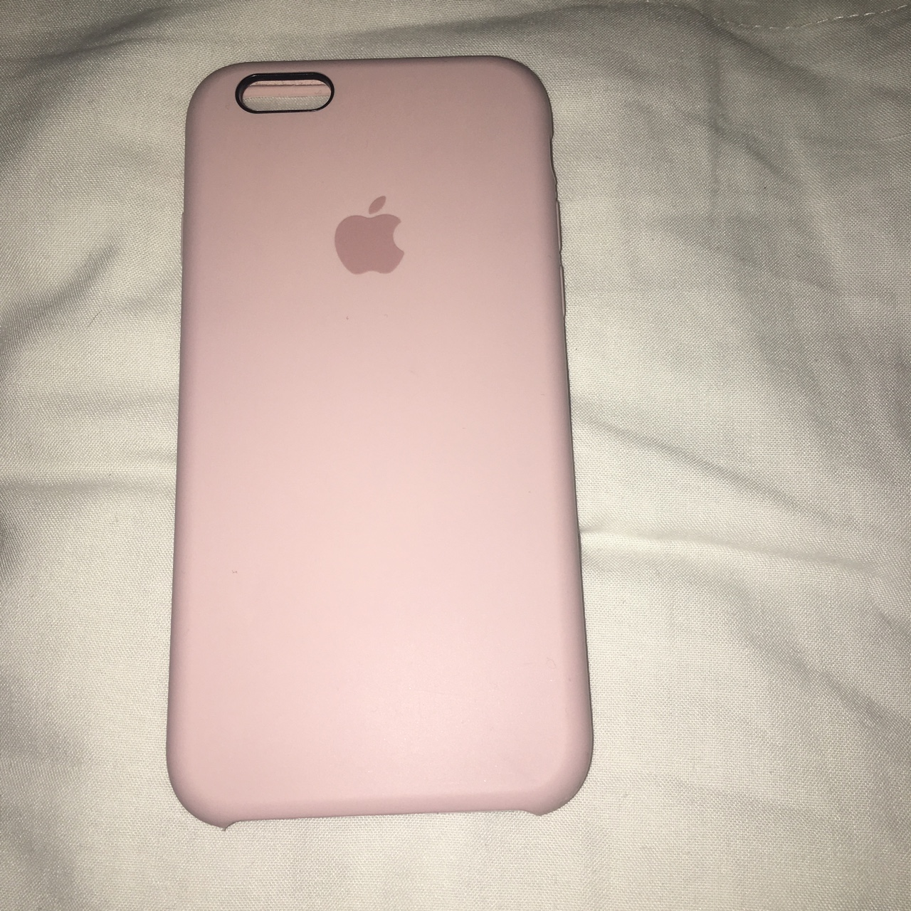 buy online b60bc 5fb4a Apple iphone 6/6s silicone case in pink sand - Depop