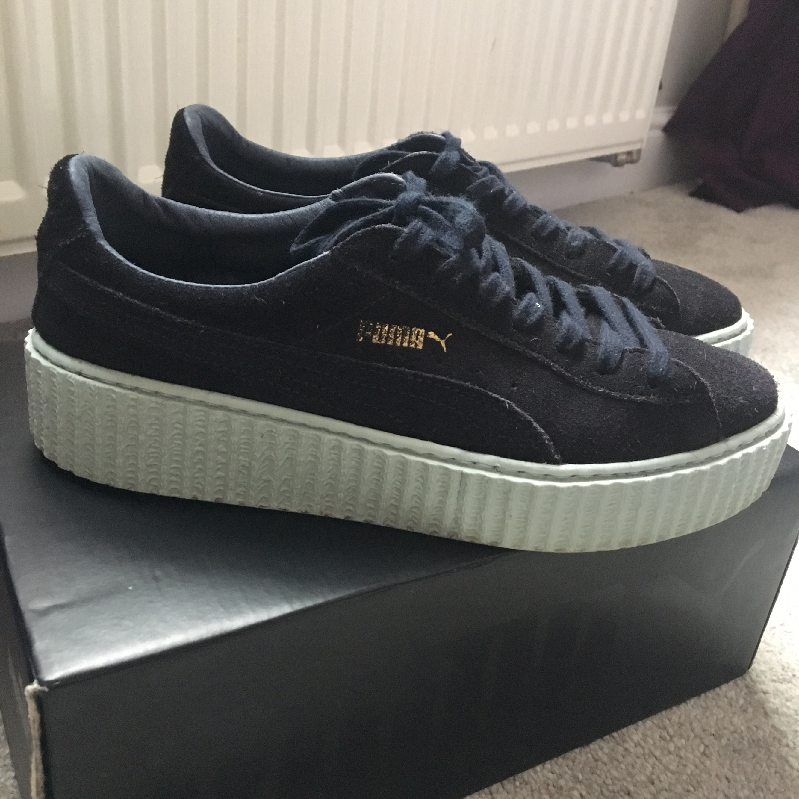 reputable site d5e7d 5a532 Fenty Puma creepers size 7 peacoat blue, bought on... - Depop