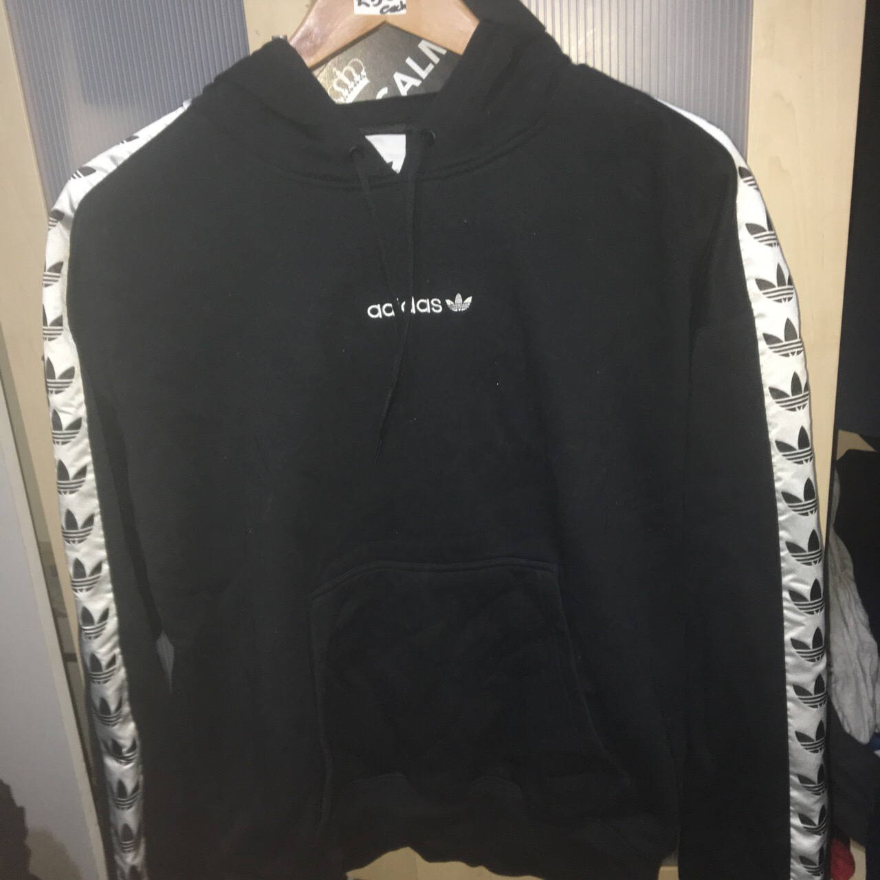 best supplier first rate utterly stylish ADIDAS TNT TAPE HOODIE BLACK DEADSTOCK CHEAPEST... - Depop