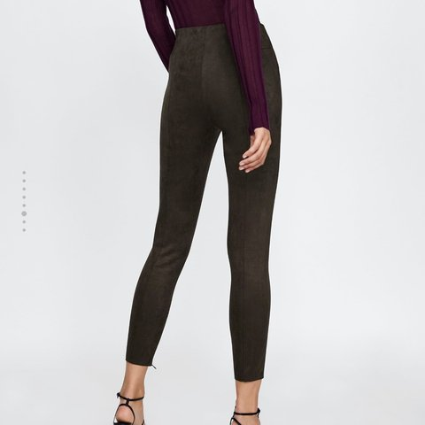 907f3838d8eab6 @yasmine311. 8 months ago. San Jose, United States. Zara faux suede  leggings size large. Never been worn