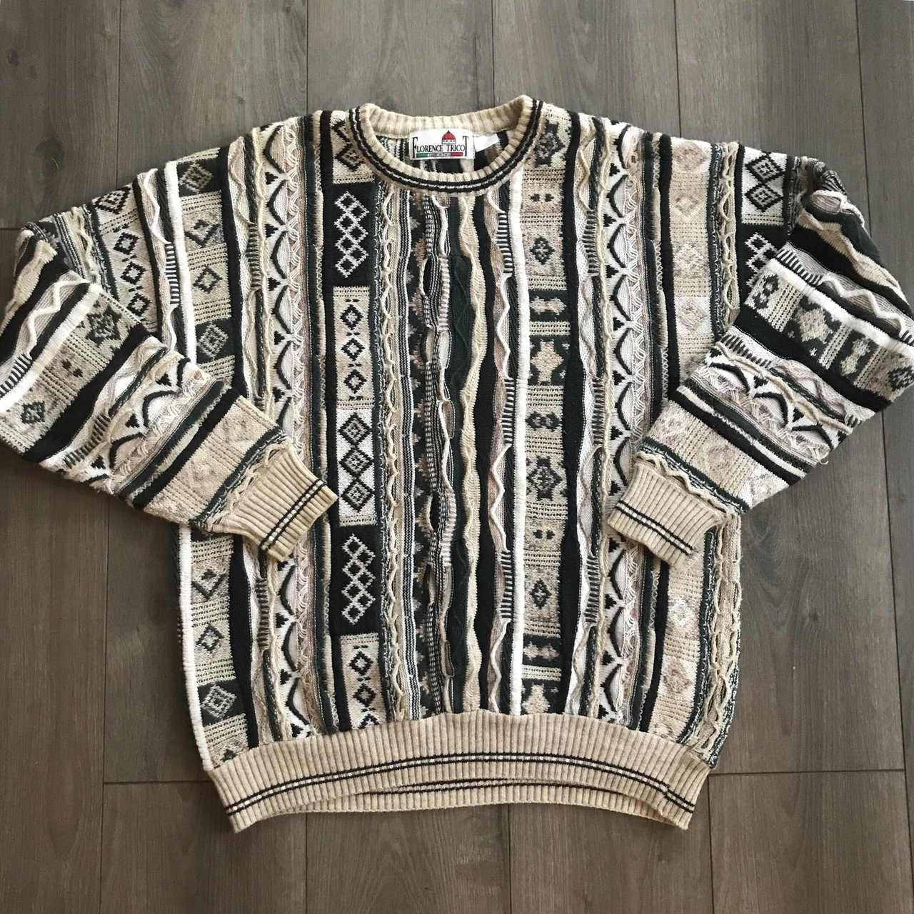 9b08930f47 COOGI Style sweater. Textures nuthin you ve seen b4. Rlly up - Depop