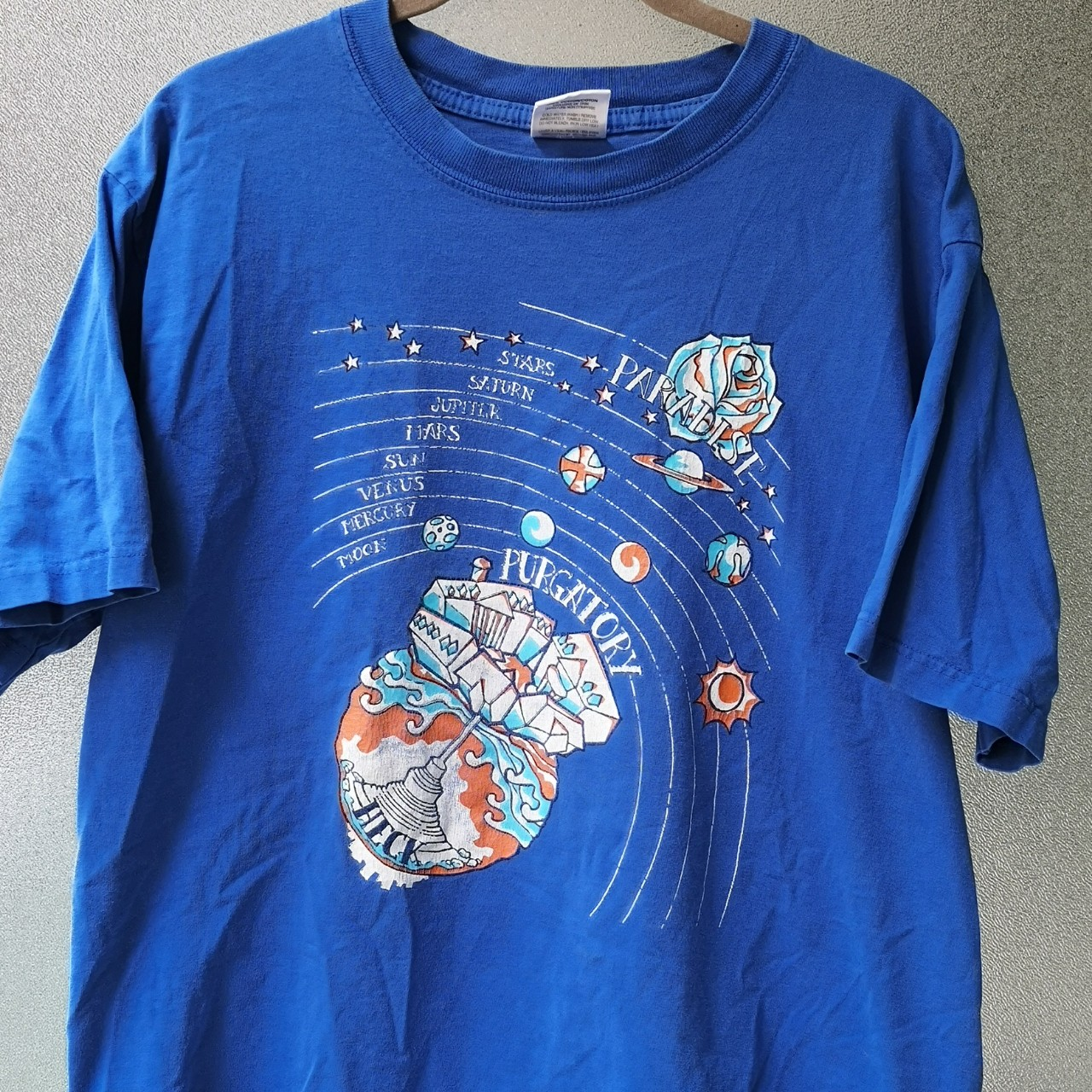 90s Vintage Purgatory Map Tee Tagged Men S Large