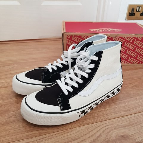 0bc0967422 Vans Sk8 Hi 138 Decon (Black White Checker). - Asos - Size 9 - Depop
