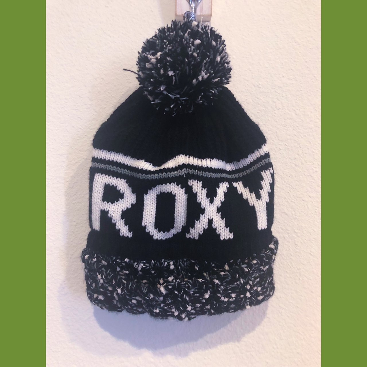9bfa2e8f53d Winter hat with tag on. Black grey with white logo text on. - Depop