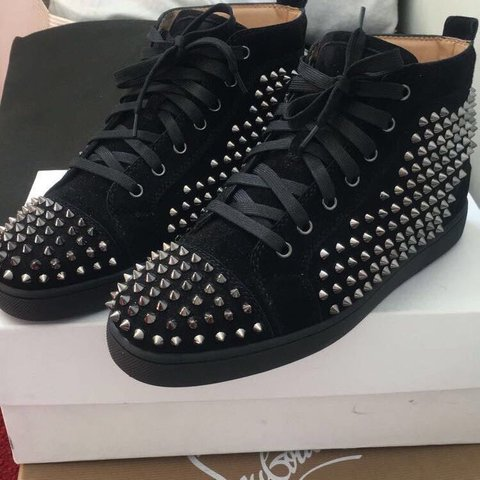 09eab0d63a26 Christian Louboutin Trainers Size 7 BUT will fit 8 9 better. - Depop