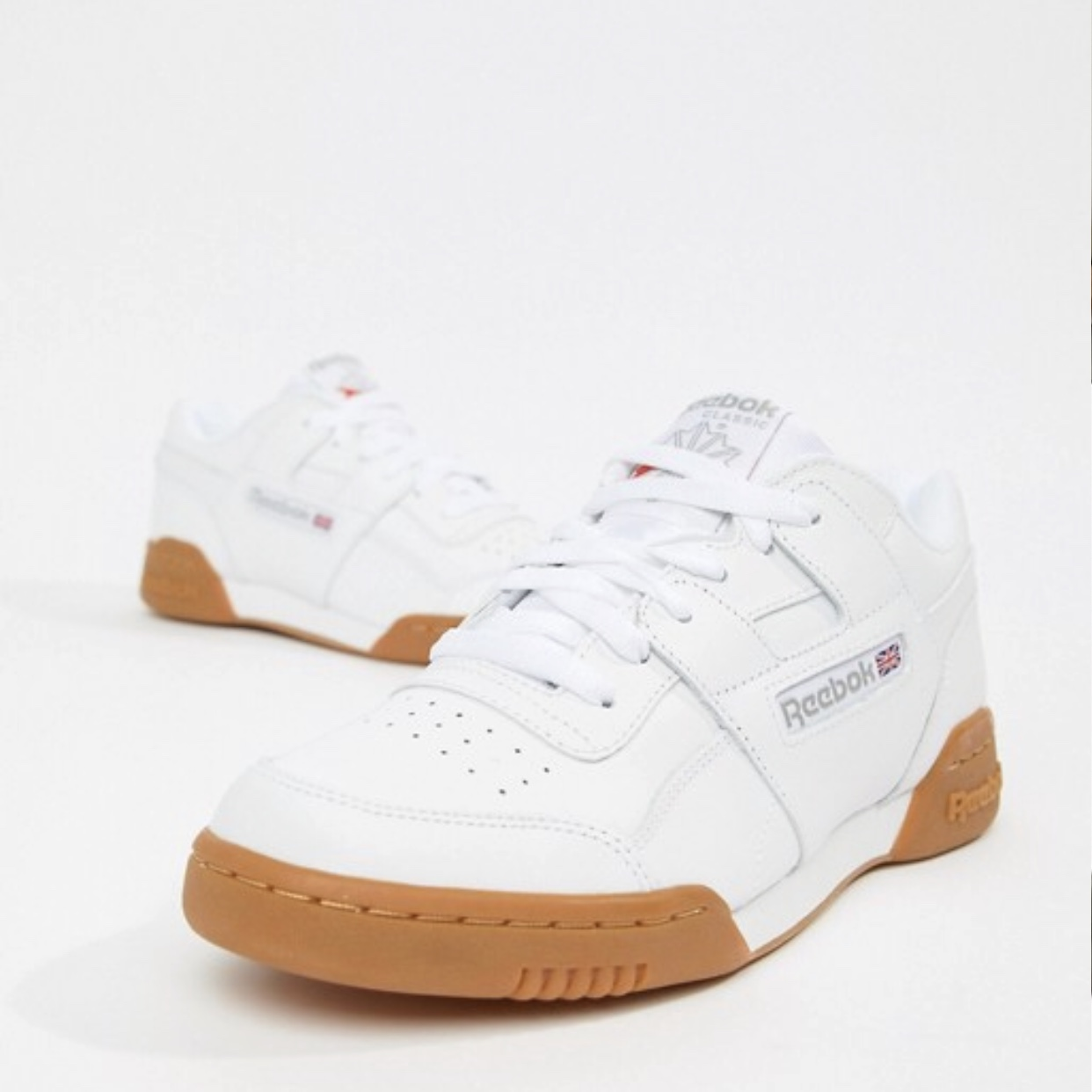 Reebok Workout Plus White Trainers With