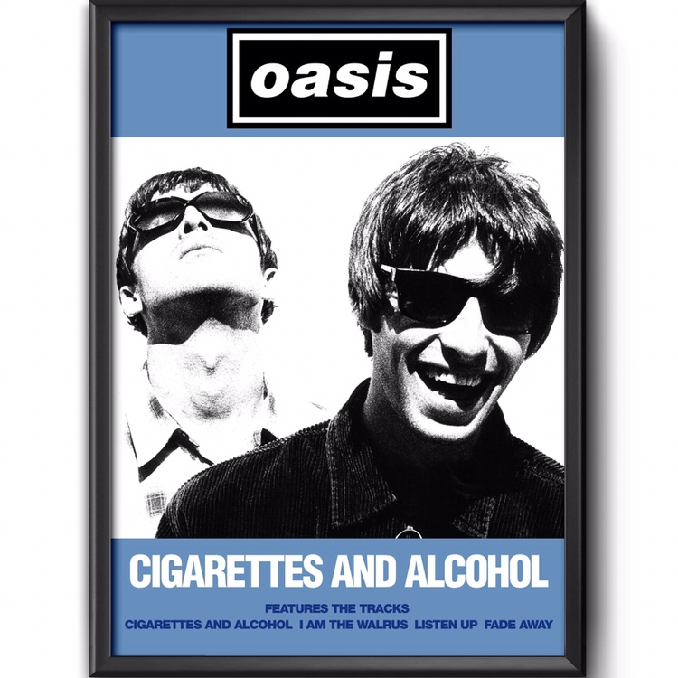 Oasis cigarettes and alcohol poster gurkha beauty cigars for sale