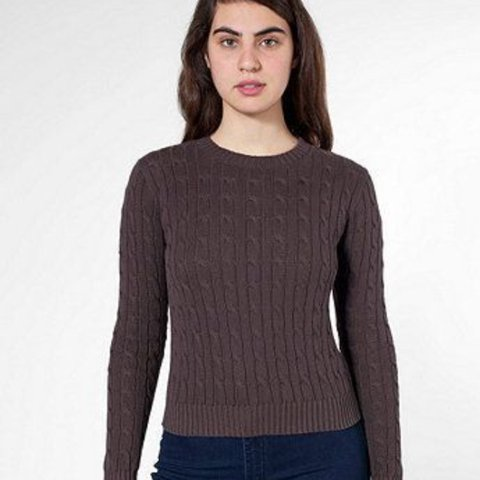 224380db5e17 American apparel navy cable knit jumper. Size xs