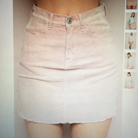 dc4295dcb5 @jesstalarico. 2 years ago. London, UK. Brandy Melville pink cord corduroy  skirt ...
