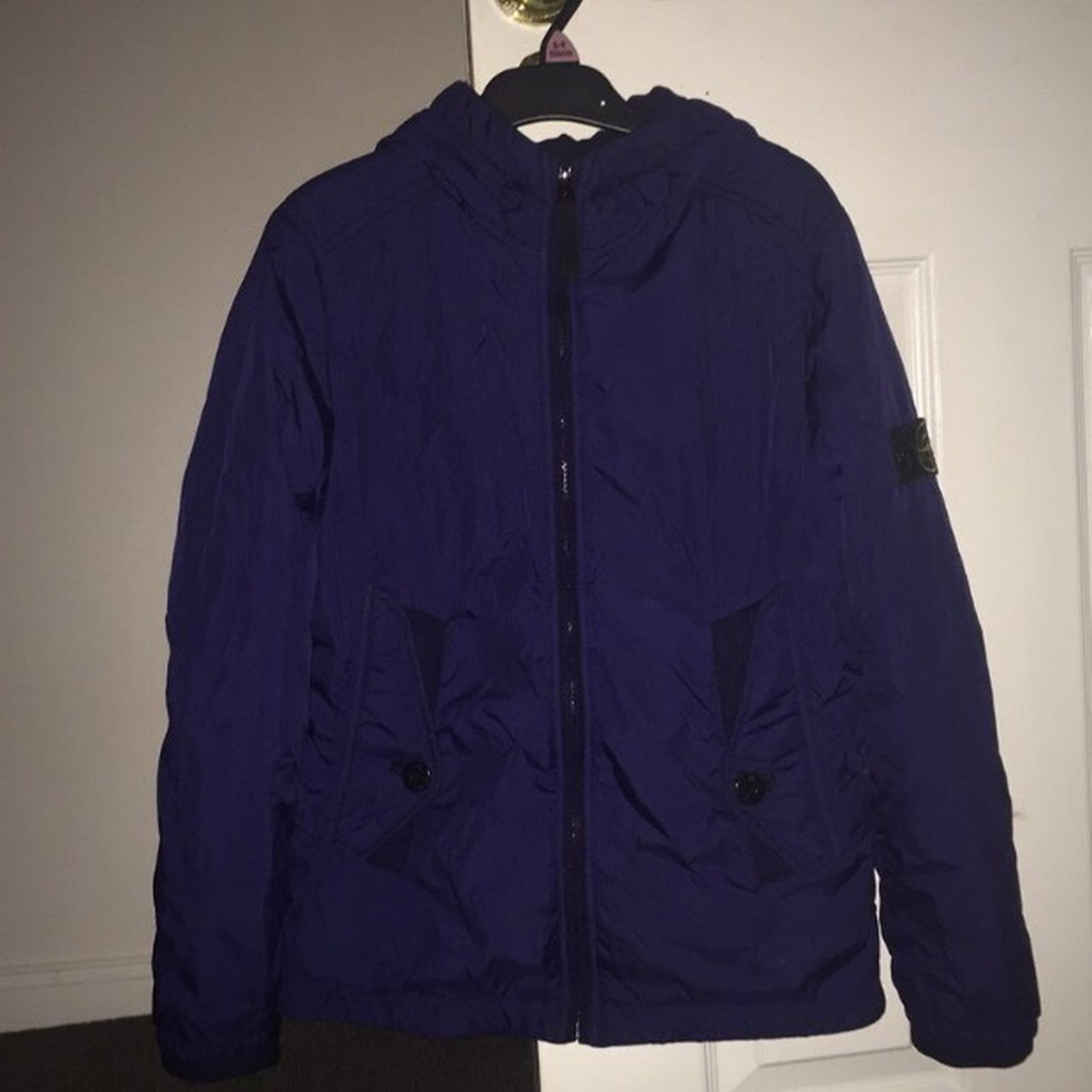 Stone island jacket size 12-14 kids. Great condition. Padded - Depop c36860575