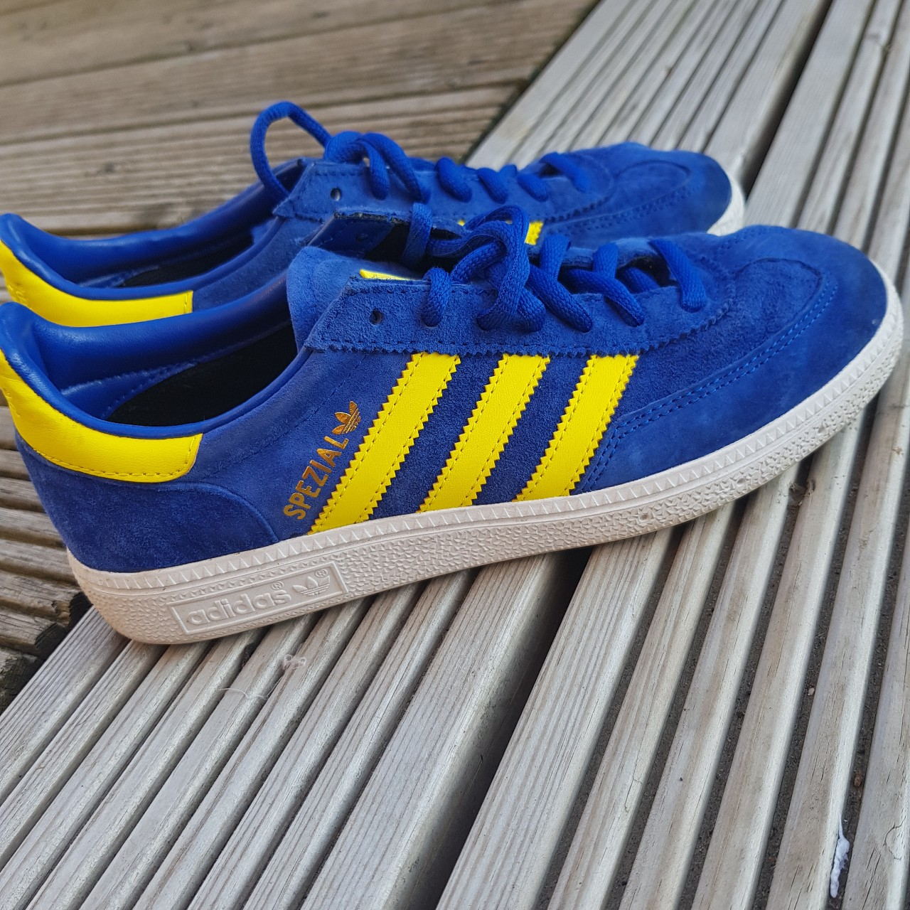 adidas spezial blue and yellow Online