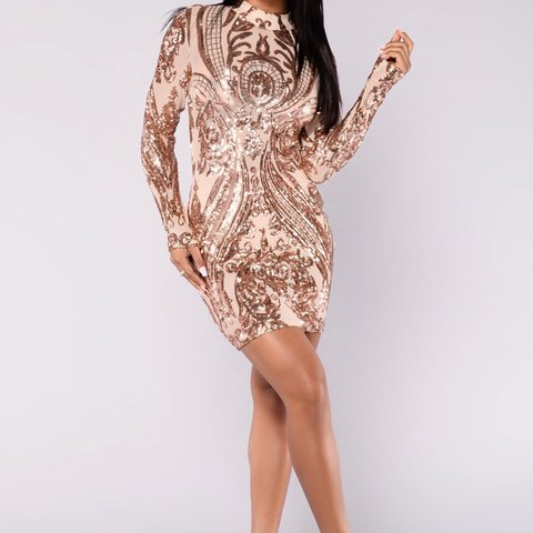 afae2f58 @chichiscloset. 10 days ago. United States. Rose Gold Sequin Dress from Hot  Miami Styles