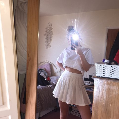 4c04ddbc1e @francescafry. 16 days ago. Bude, United Kingdom. Ivory pleated Tennis skirt