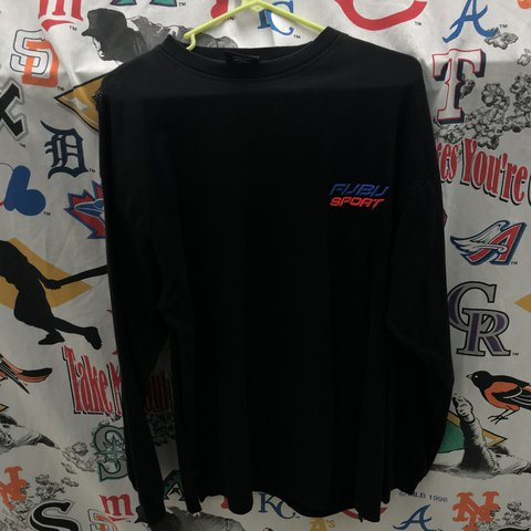 a2e0762042ffbc Vintage fubu sport long sleeve with very nice embroidered - Depop