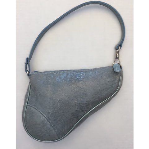 Super Rare authentic Christian Dior saddle bag iridescent in - Depop c54a6e756ebed
