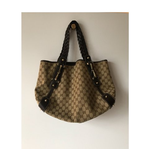 c8fd10cbd209 @madsgriff. last year. Indianapolis, United States. Vintage Gucci brown tote  bag
