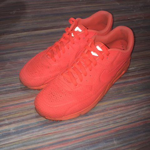 quality design 2f807 25f6d  akoufe. last month. Birmingham, United Kingdom. Nike Air Max 90 Ultra BR  Mens Shoes Trainers - Bright Red Orange ...