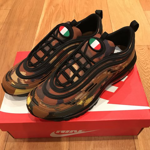 7ebec4fce95cb @sneakz4sale. last year. London, United Kingdom. Nike Air Max 97 Premium QS  - Italia pack