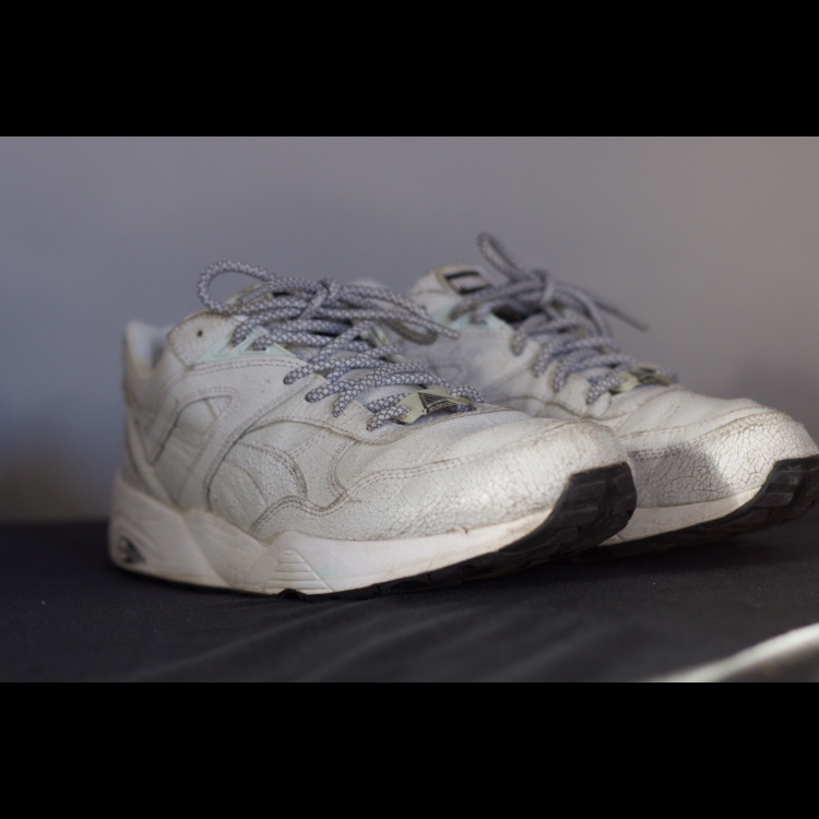 Puma R698 Trinomic Crackle White Part of the... - Depop