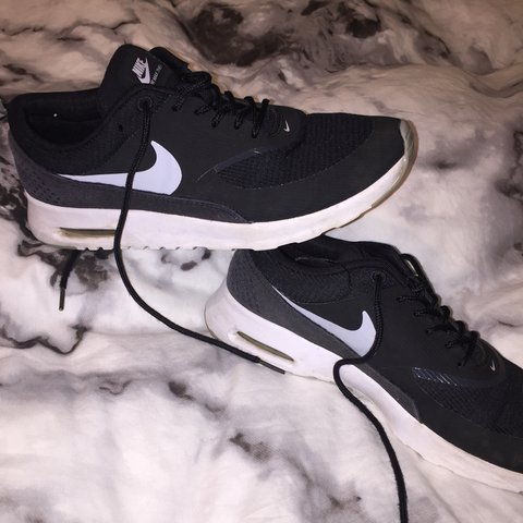 Nike Air Max Thea Black and white They are worn but still   - Depop 78df85d60