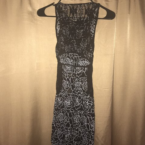 3af670c4c49 Cute sexy black and white lace dress love culture size extra - Depop