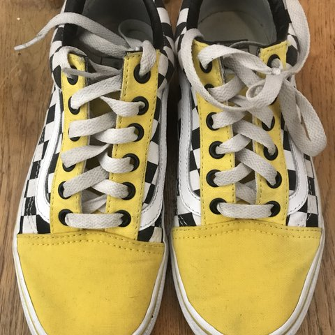 a951d42aa698 custom vans sad to let these go :( purchased for $80 size 3 - Depop
