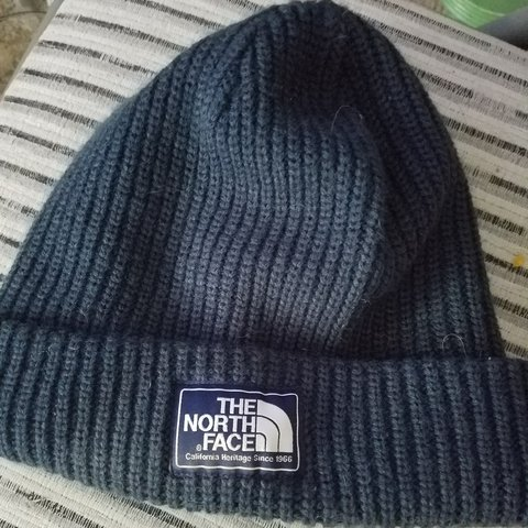 b91fcd91587 Navy Blue. The North Face beanie. hardly worn. 10 10  tnf - Depop