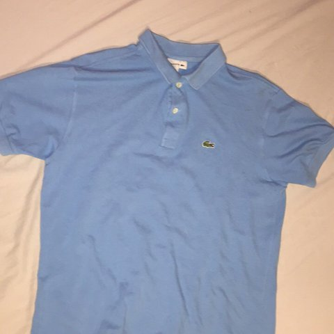 d40b524f0 Lacoste boys light blue polo shirt age 16 ( will fit 14 - 16 - Depop