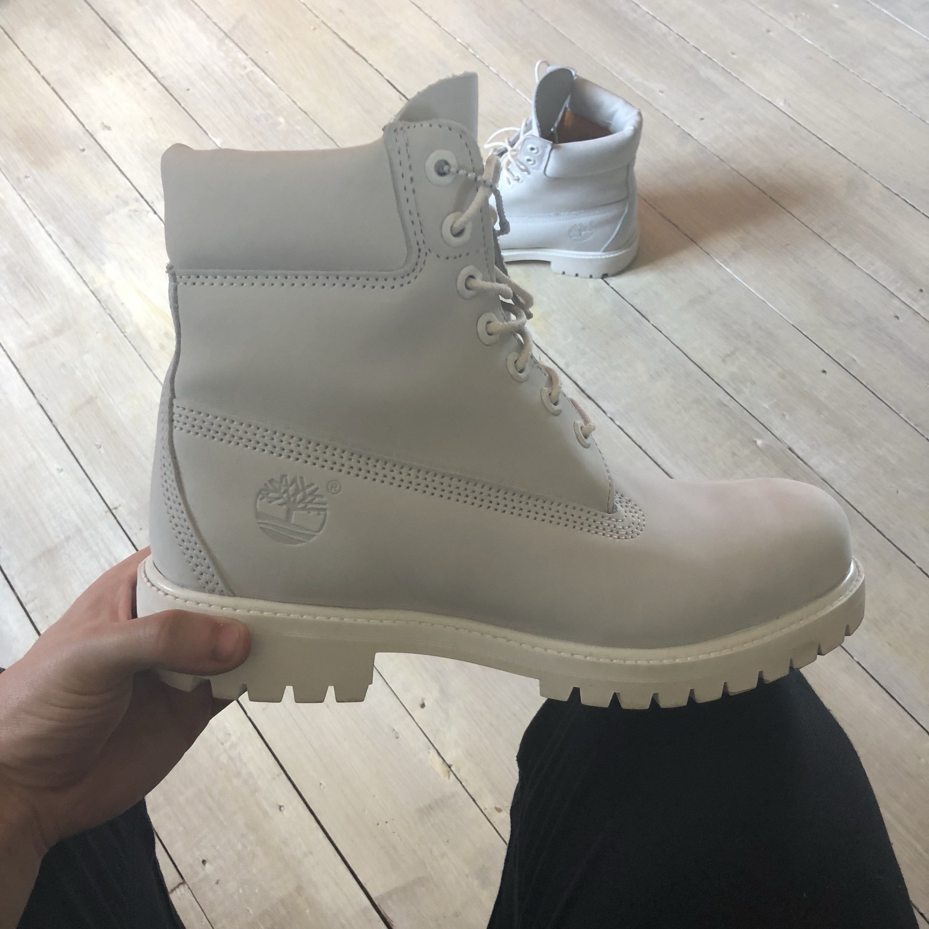 RARE timberland ALL WHITEBRIGHT WHITE limited Depop