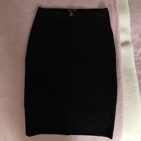 0ce3c7a85 @bethchick97. 3 months ago. Solihull, United Kingdom. H&M knee length black  jersey pencil skirt