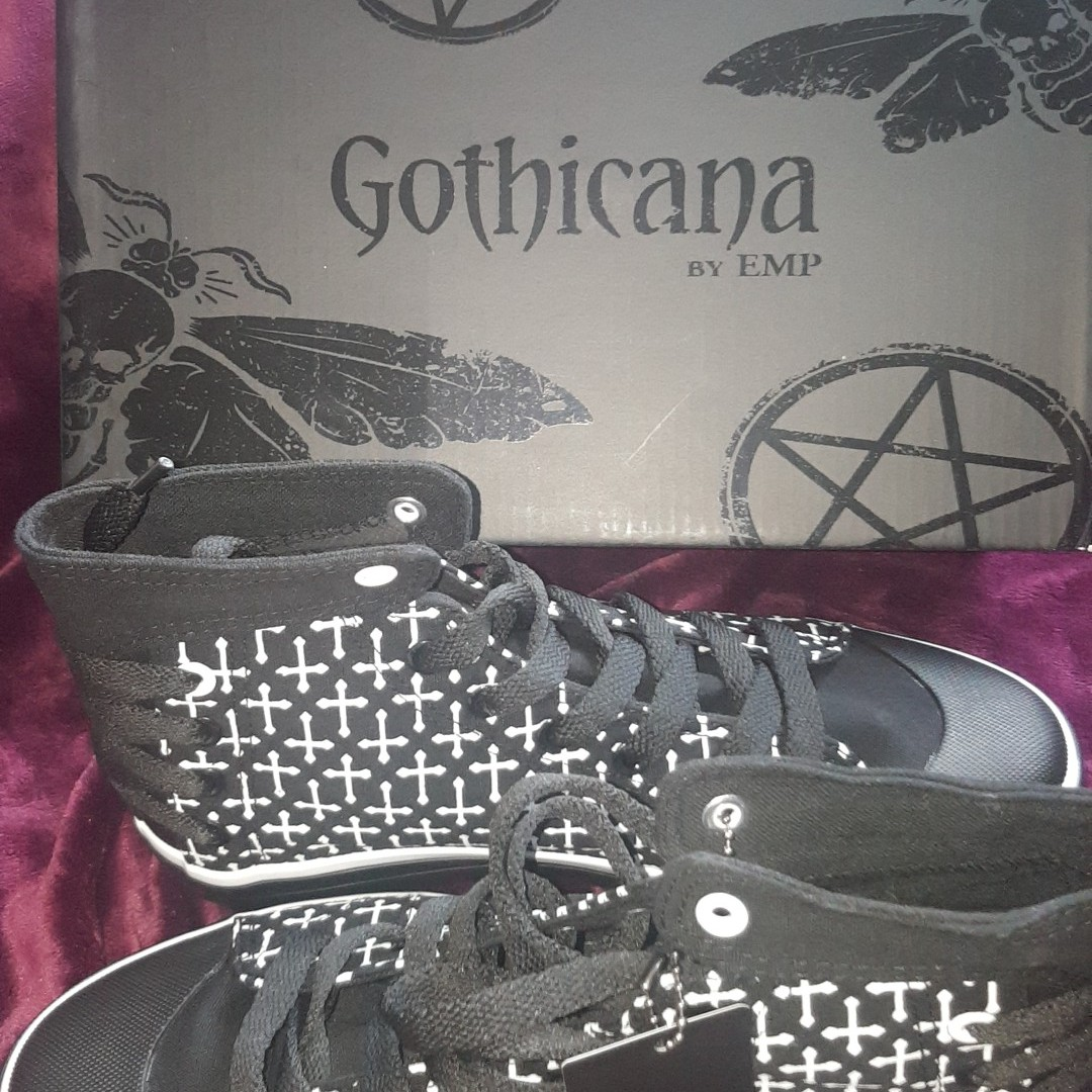 Depop Gothicana Style The Rad Hi Converse Shoes Top By jRLA345