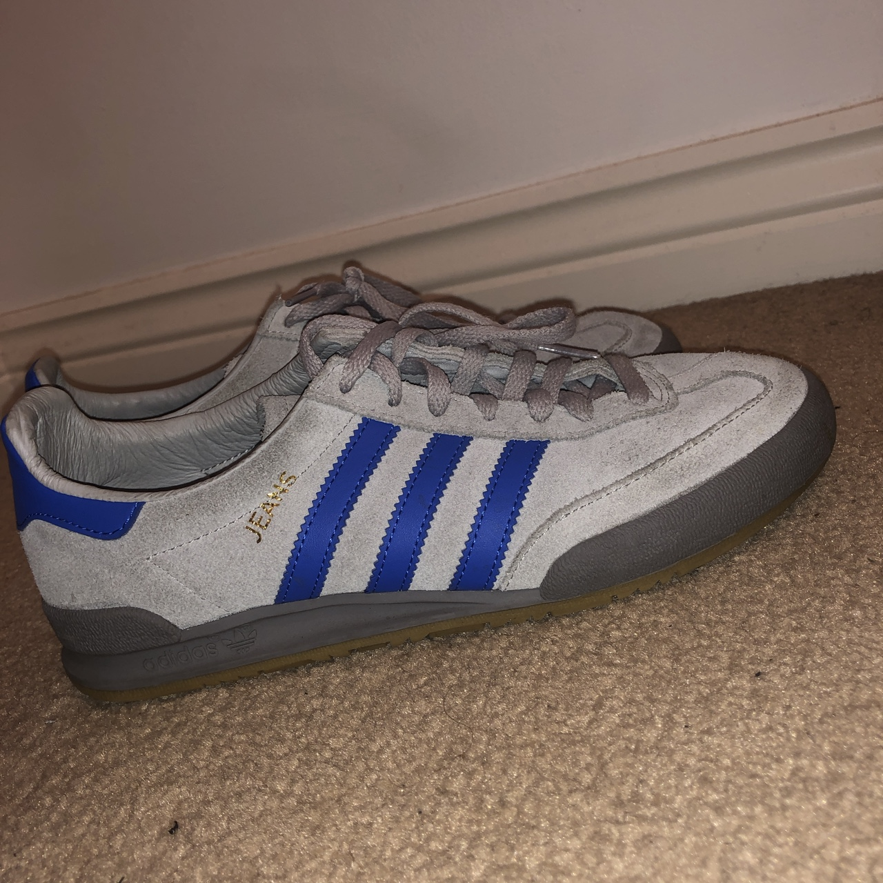 Adidas jeans light grey and blue Worn 2