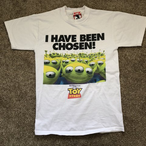 f2b7c5e9b @tygablood6. last year. Bakersfield, United States. Vintage 90s Disney  Pixar Toy Story Alien Promo Shirt ...