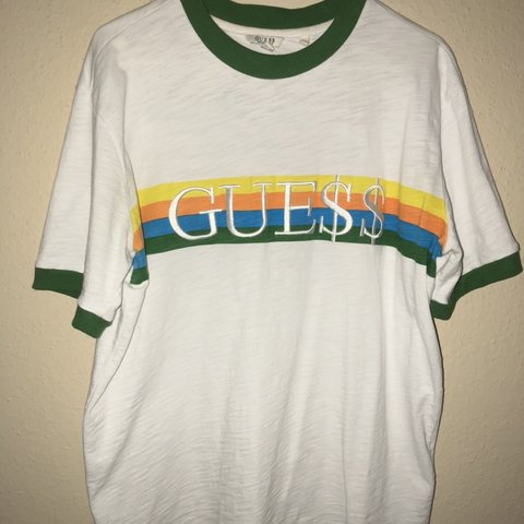 357c8d6a434c @kimoawge. 5 months ago. Houston, United States. A$AP Rocky x Guess Collab Ringer  Tee.