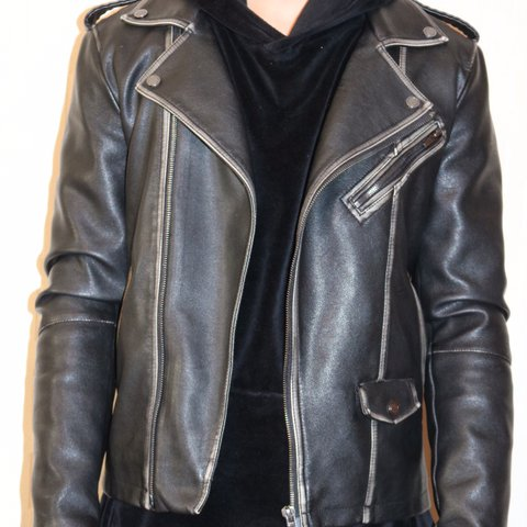 Zara Stylish Black And Brown Leather Jacket With Multiple Depop