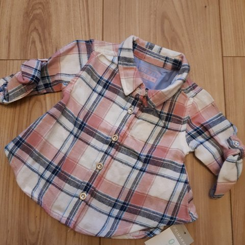 549f9cd0 Brand new with tags baby girls shirt Primark baby 0-3 blue - Depop