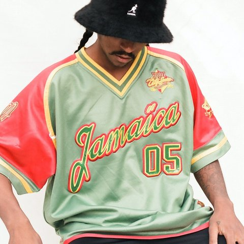 red gold and green adidas jacket