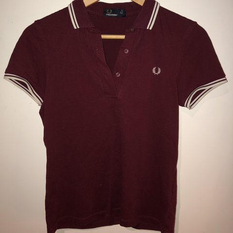 aab979bc5 @oliviamacleod. last year. Collieston, United Kingdom. Burgundy Fred Perry  Women's Twin Tipped Polo. Hardly worn ...