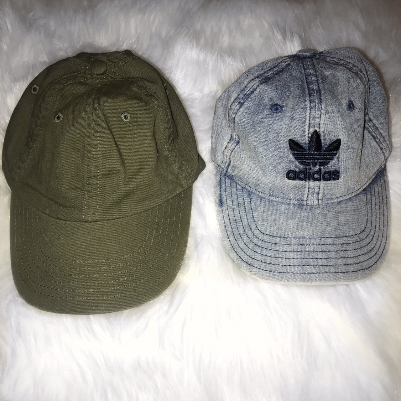 hat bundle!! tilly s adidas cap   urban outfitters olive dad - Depop e5201830d02